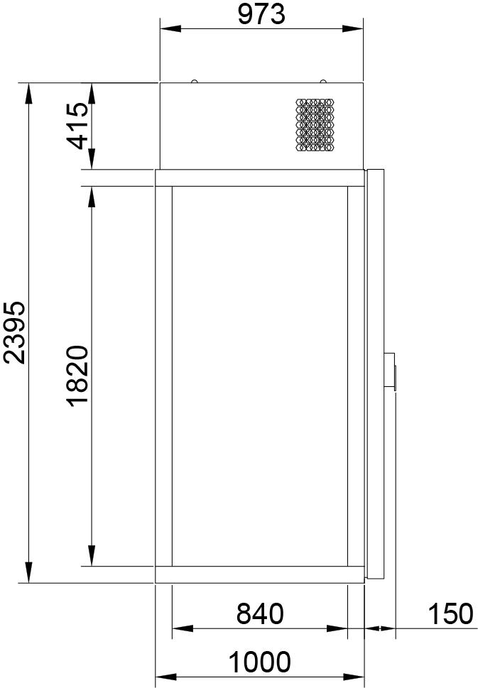 Холодильная камера POLAIR КХН-1,28 Мinicellа МB - 4