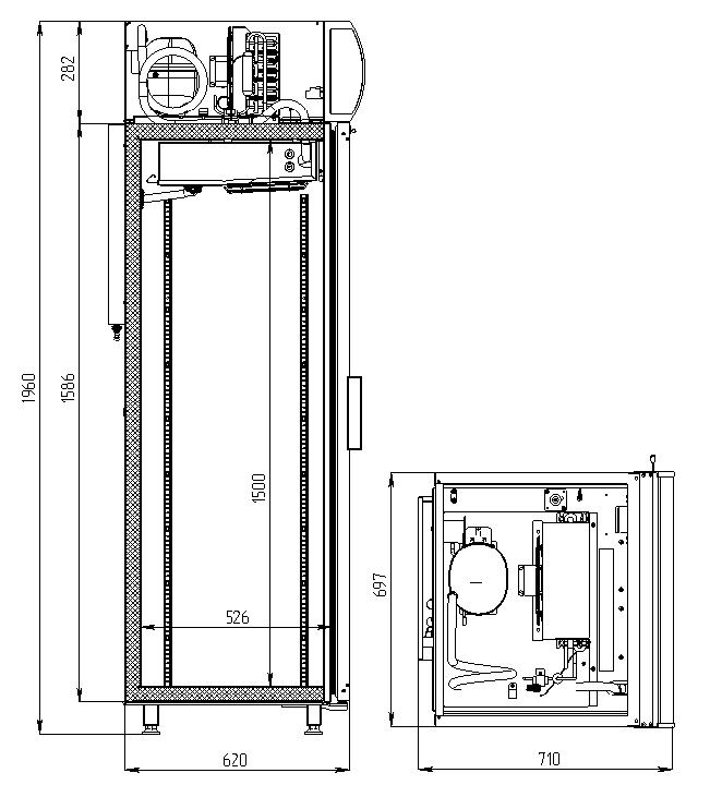 Морозильный шкаф POLAIR DB105-S - 1