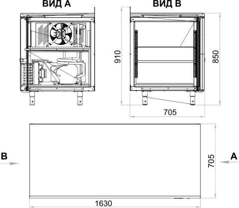 Холодильный стол POLAIR TM3GN-G - 3