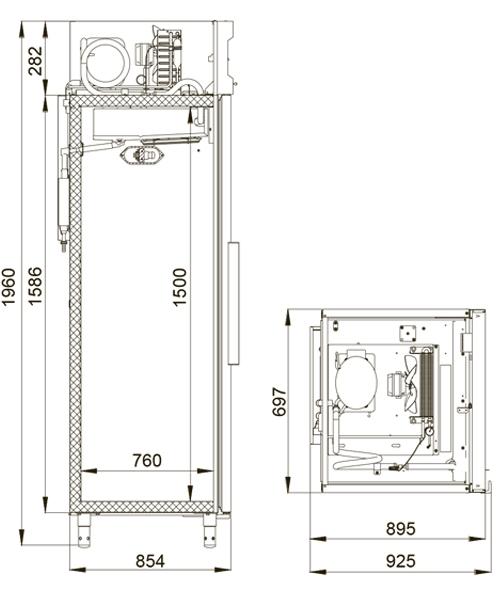 Холодильный шкаф POLAIR CM107-G (ШХ-0,7) - 1