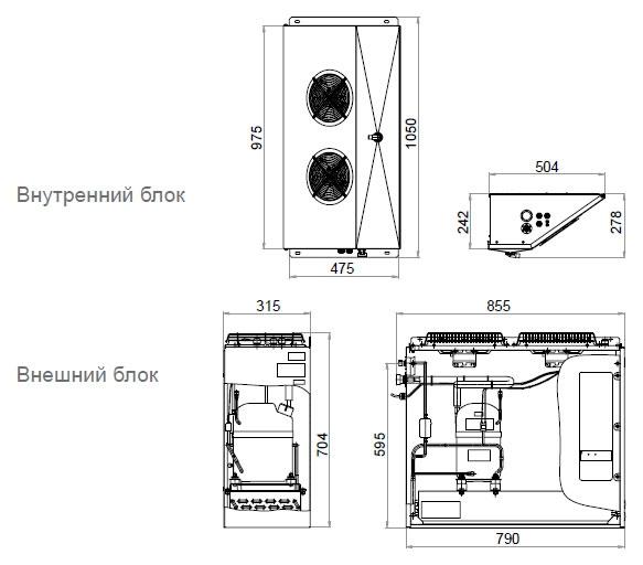 Сплит-система POLAIR SB216P - 1