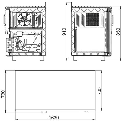 Холодильный стол POLAIR TD3GN-G - 1