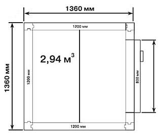 Холодильная камера POLAIR КХН-2,94 - 2