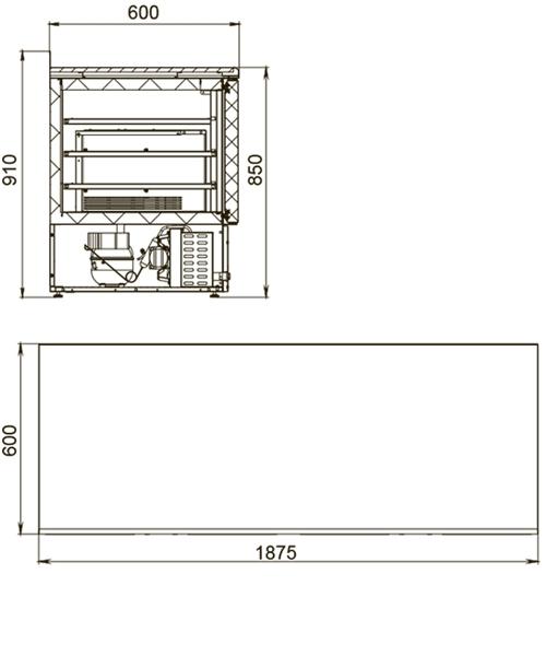 Холодильный стол POLAIR TDi4-G - 1