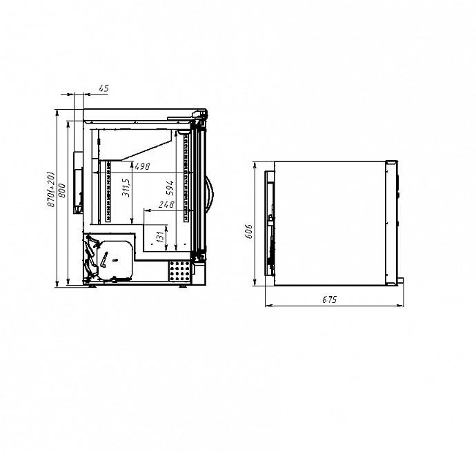 Морозильный шкаф POLAIR DB102-S - 3