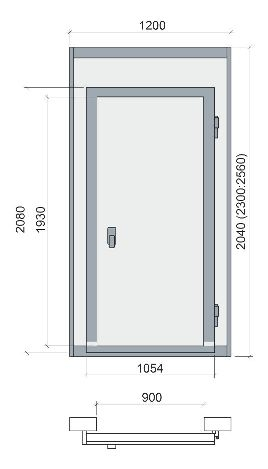 Дверной блок POLAIR1200x2300мм (световой проём 900x1930 мм) - 1