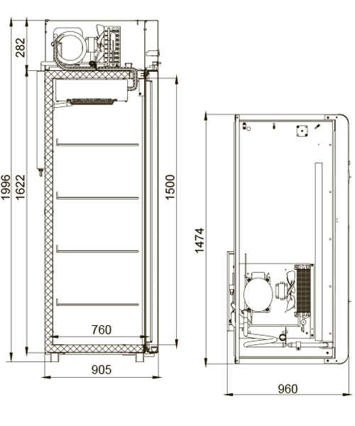 Морозильный шкаф POLAIR CB114-Sm - 1