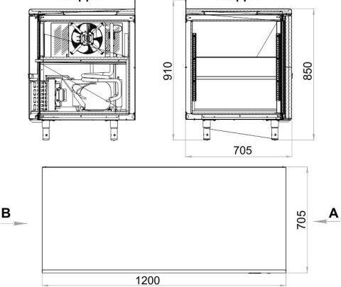 Морозильный стол POLAIR TB2GN-G - 3