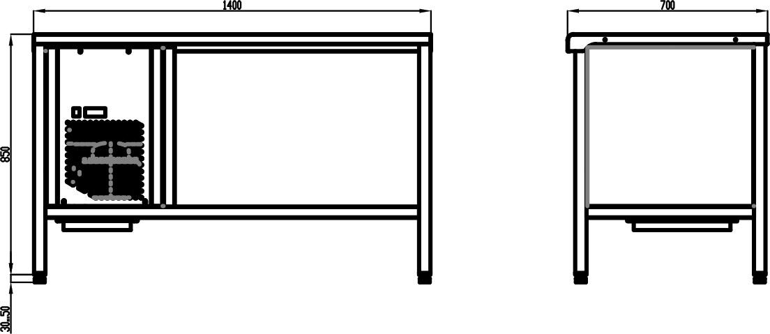 Стол с охлаждаемой столешницей POLAIR TT1.4GN-G - 1
