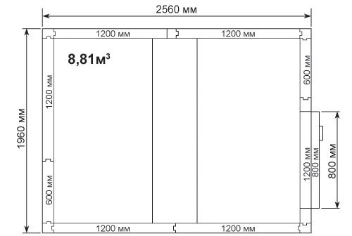 Холодильная камера POLAIR КХН-8,81 - 2