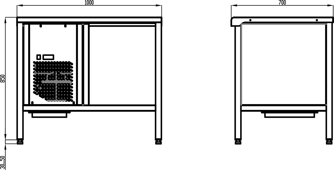 Стол с охлаждаемой столешницей POLAIR TT1.0GN-G - 1
