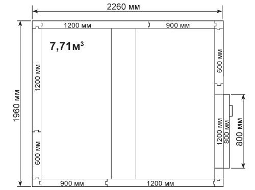 Холодильная камера POLAIR КХН-7,71 - 2