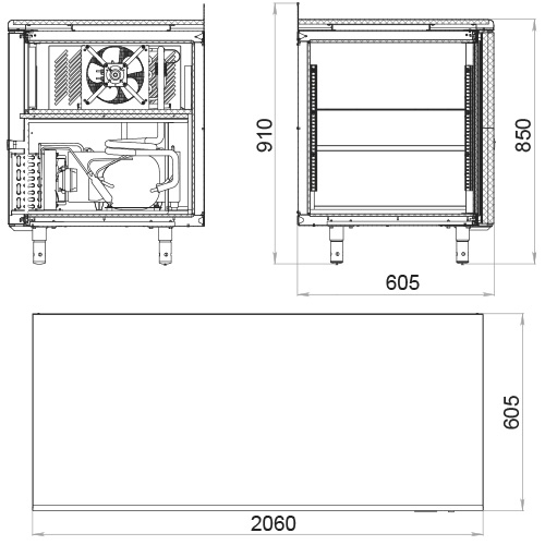 Холодильный стол POLAIR TM4-G - 2