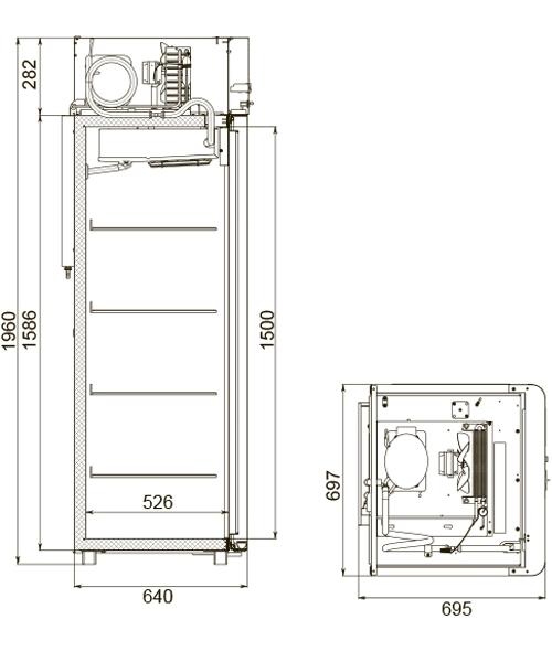 Холодильный шкаф POLAIR CV105-Gm - 2