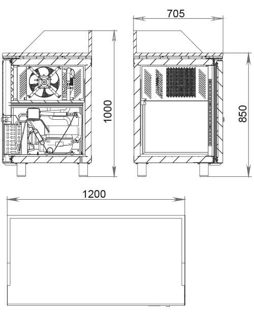 Холодильный стол POLAIR TM2GNpizza-G - 1