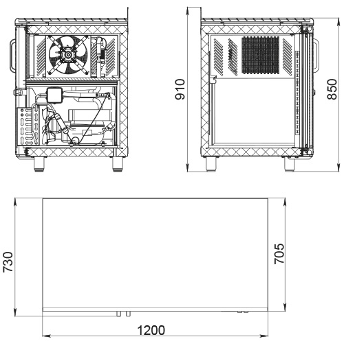 Холодильный стол POLAIR TD2GN-G - 1
