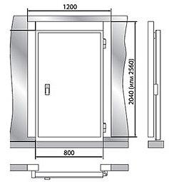 Дверной блок POLAIR 1200x2560мм - 1