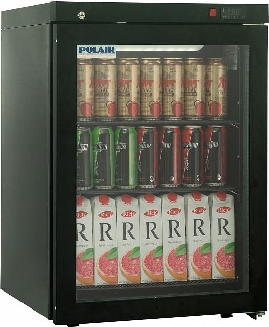 Холодильный шкаф POLAIR DM102-Bravo чёрный + замок - 1
