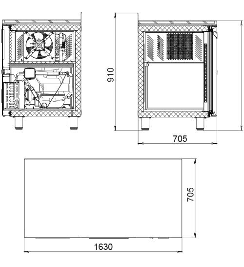 Морозильный стол POLAIR TBi3GN-G - 1