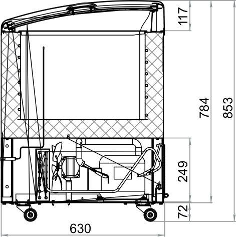 Морозильный ларь POLAIR DF150SC-S - 1