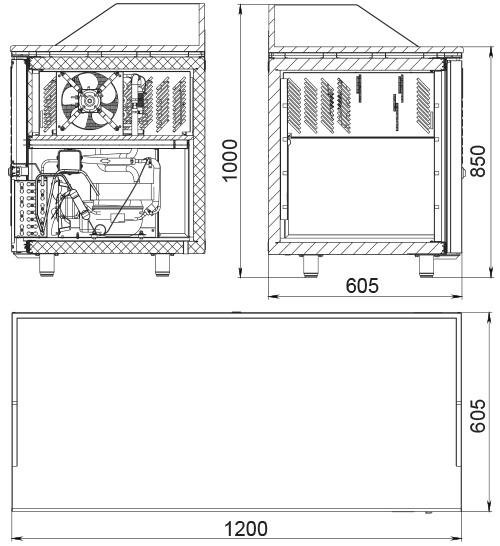 Холодильный стол POLAIR TM2pizza-GC - 2