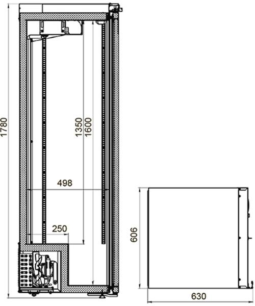 Холодильный шкаф POLAIR ШХФ-0,4 - 1