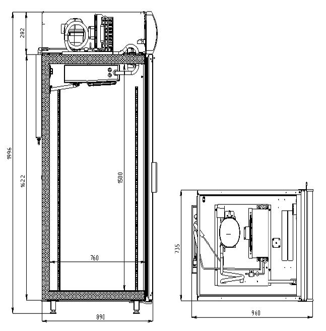 Морозильный шкаф POLAIR DB107-S - 1