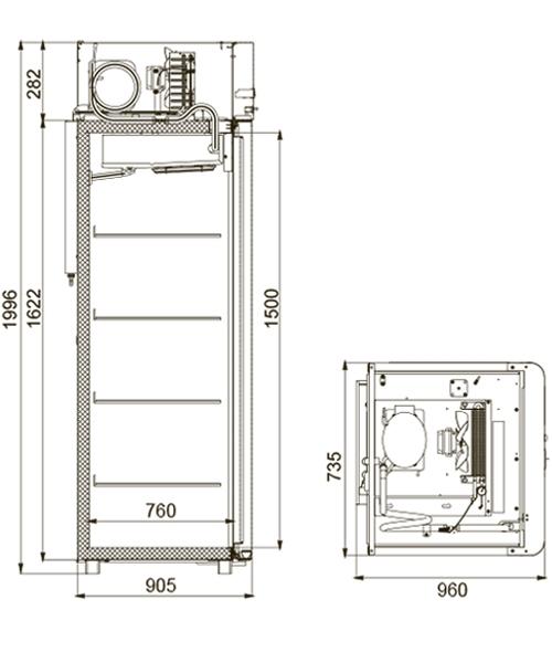 Морозильный шкаф POLAIR CB107-G - 1
