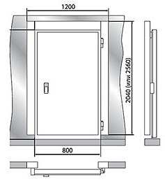 Дверной блок POLAIR 1200x2040мм - 1