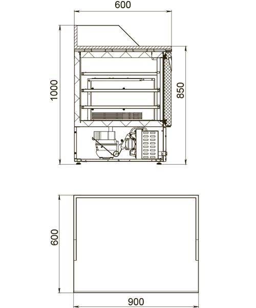 Холодильный стол POLAIR TMi2pizza-G - 1