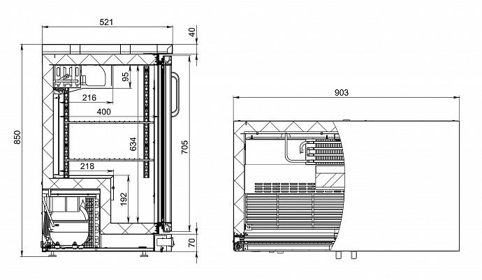 Холодильный шкаф (стол) POLAIR TD102-Bar - 2
