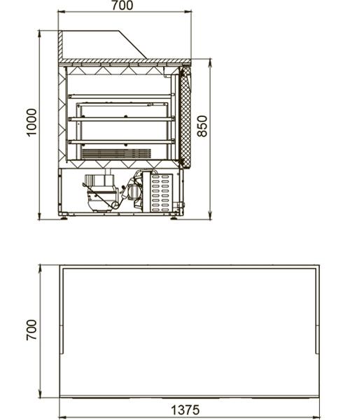 Холодильный стол POLAIR TMi3GNpizza-G - 1