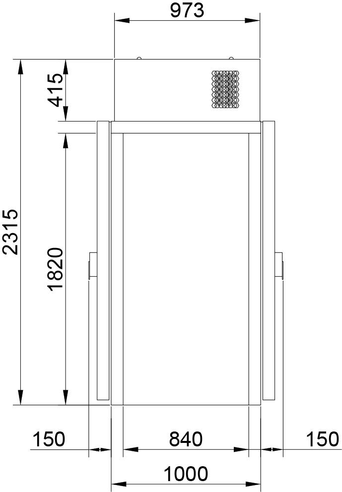 Холодильная камера POLAIR КХН-1,28 MinicellаММ 2дверибезпола - 2