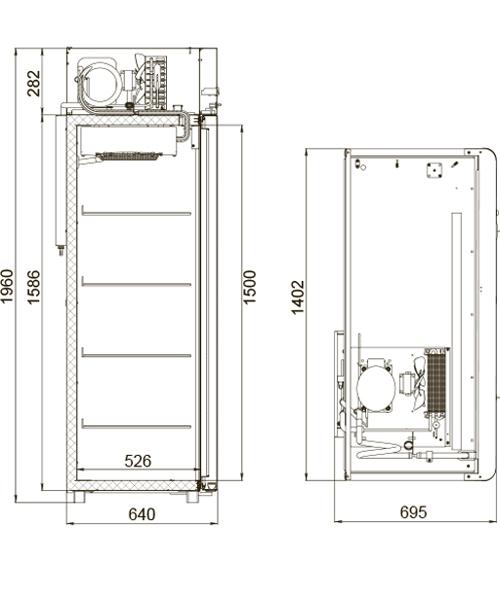 Холодильный шкаф POLAIR CV110-Gm - 2