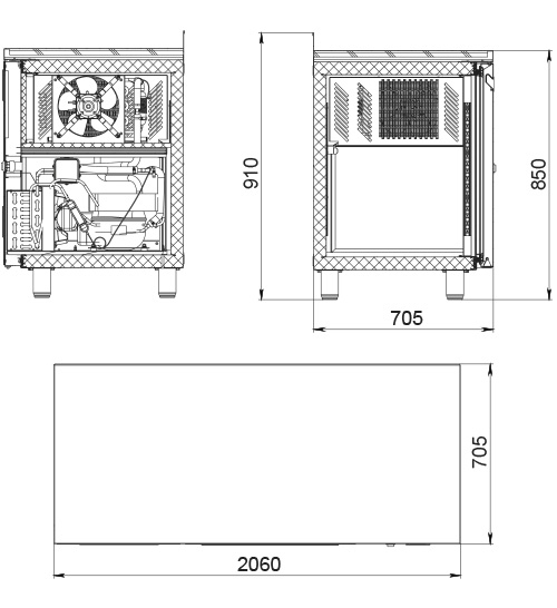 Холодильный стол POLAIR TM4GN-GC - 2