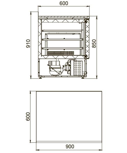 Холодильный стол POLAIR TDi2-G - 1