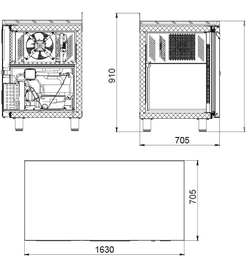 Морозильный стол POLAIR TB3GN-GC - 1