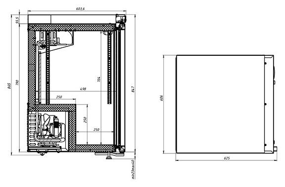 Холодильный шкаф POLAIR DP102-S + замок - 1