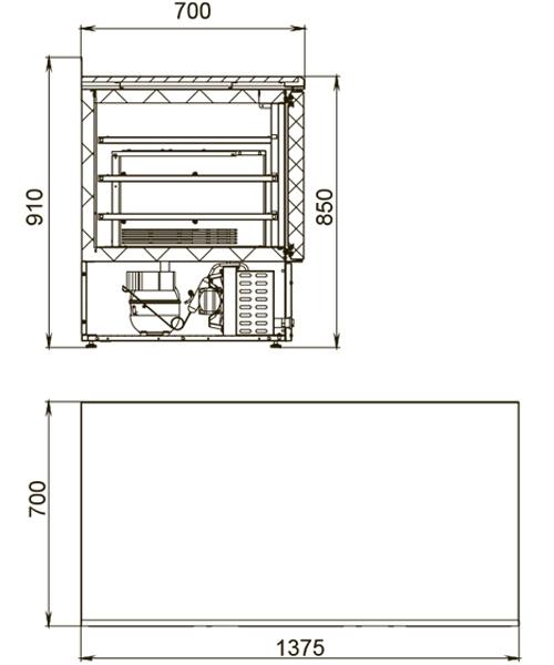 Холодильный стол POLAIR TDi3GN-G - 1