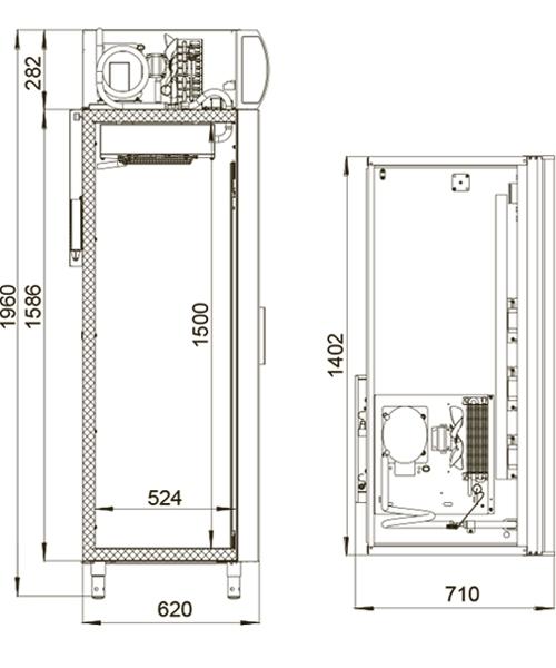 Холодильный шкаф POLAIR DV110-S - 1