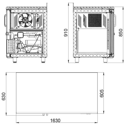 Холодильный стол POLAIR TD3-G - 1