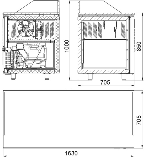 Холодильный стол POLAIR TM3GNpizza-GC - 2