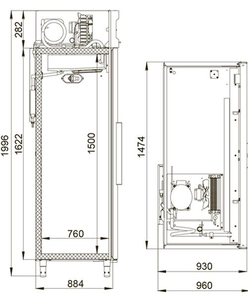Морозильный шкаф POLAIR CB114-S - 1