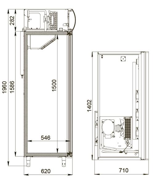 Холодильный шкаф POLAIRDM110Sd-S2.0 - 6