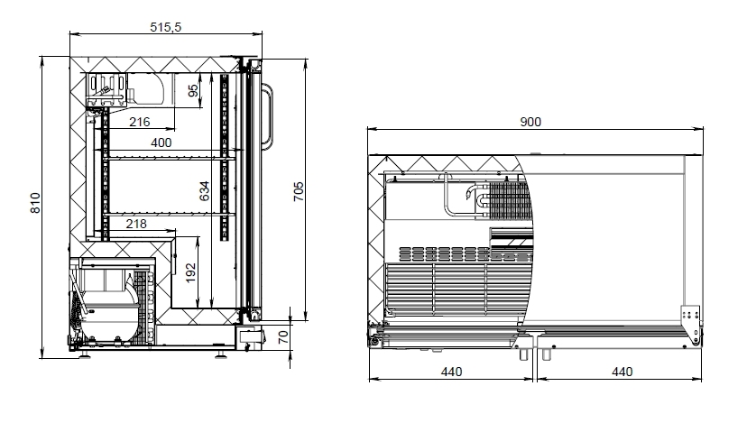 Холодильный шкаф (стол) POLAIR TD102-G без столешницы - 2