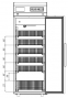 Холодильный шкаф POLAIR ШХФ-0,5 скорзинами